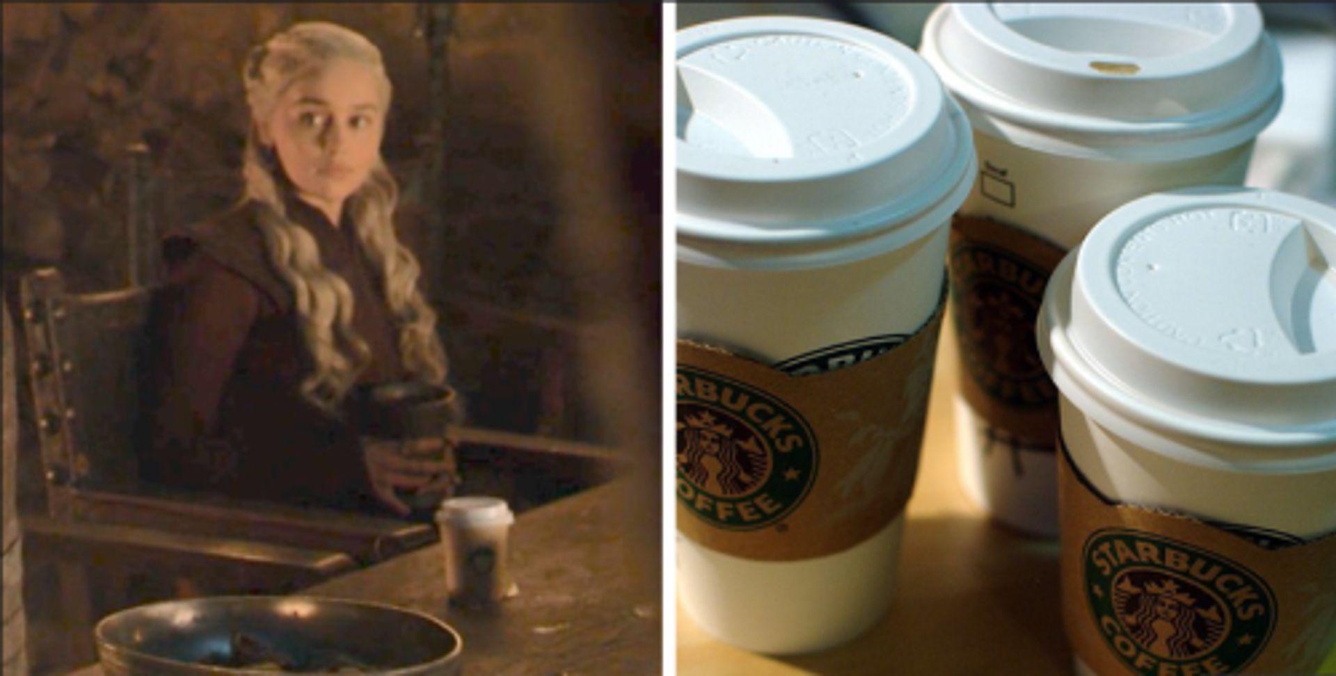 Heeft Game of Thrones een sponsordeal met Starbucks?
