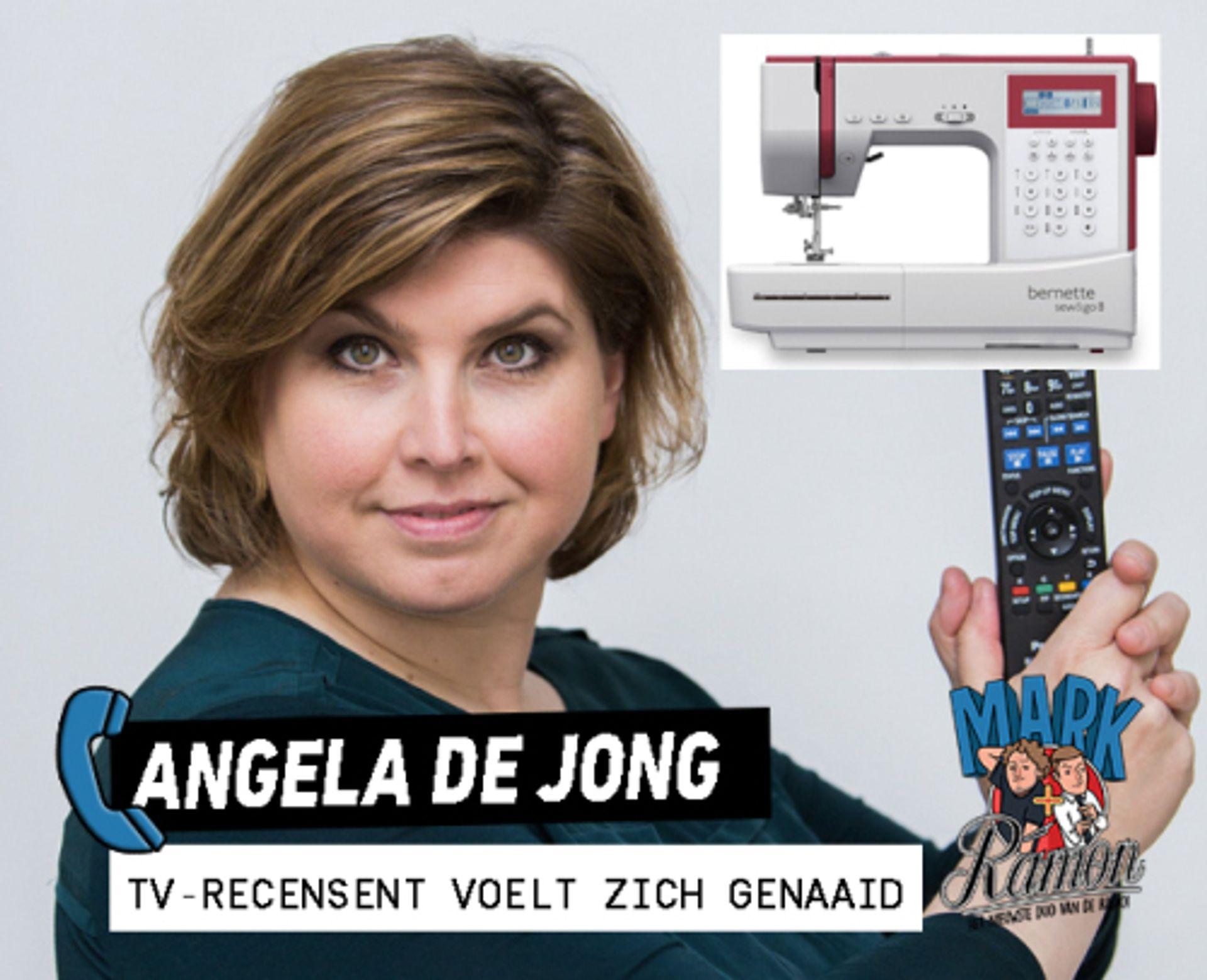 Angela De Jong is boos