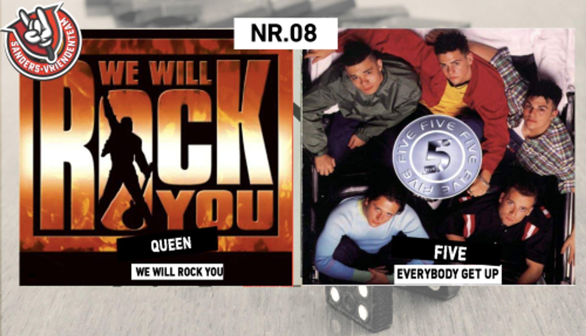 INTRODOMINO:QUEEN - WE WILL ROCK YOU & FIVE - EVERYBODY GET UP