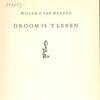 Klassieke Bibliotheek: Willem G. van Maanen - Droom is 't leven