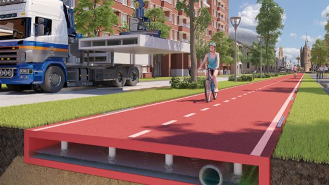 Plastic fietspad geopend in Zwolle