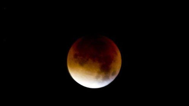 Maansverduistering goed te zien