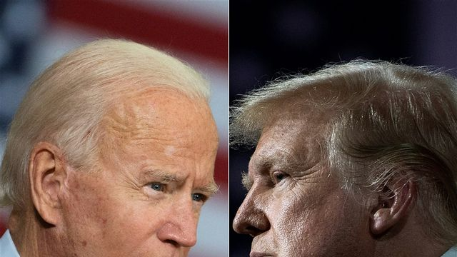 Biden en Trump nemen het tegen elkaar op
