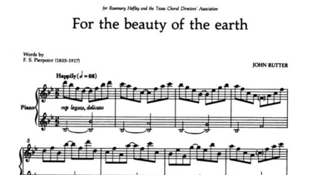 Rutter - For the beauty of the earth
